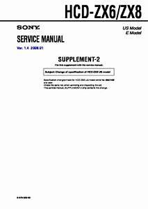 Sony Hcd-zx6  Hcd-zx8 Service Manual