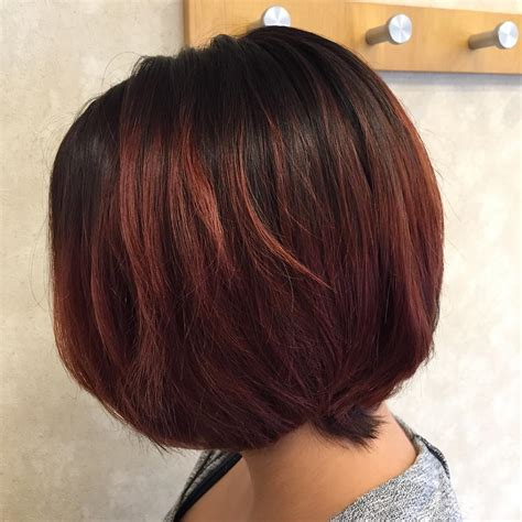 Trendy ombre straight long bob hairstyle for shoulder length hair. Ombre on Short and Long Bob Hair 2018