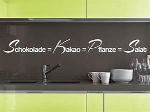 Wandtattoo Sprüche Küche : wandtattoo schokolade gleich salat wandtattoo de ~ Frokenaadalensverden.com Haus und Dekorationen