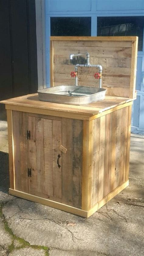 outdoor kitchen sink turn a wooden cable spool into an outdoor kitchen or 1306