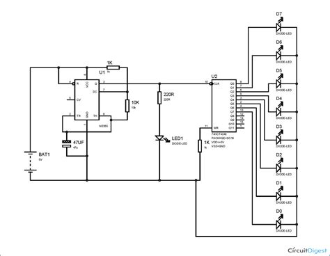 Binary Counter Circuit Diagram Using Timer