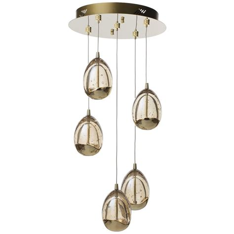bulla 5 light led spiral cluster ceiling pendant light