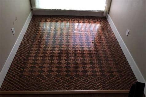 tiled  floor   pennies  people