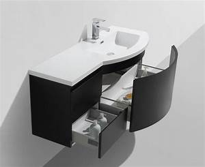 ensemble de meubles de salle de bain laurance 2400 noir With meubles de salle de bain forme arrondie