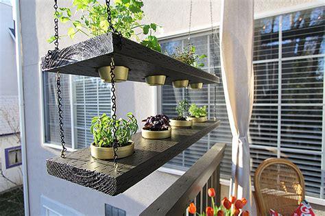 diy hanging planter herb garden withheart