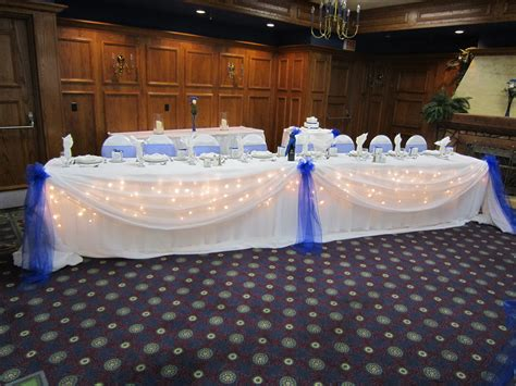 royal blue table decorations crystal centerpieces set the mood decor