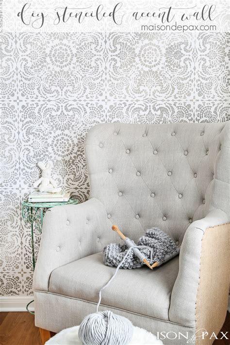 stencil  accent wall maison de pax