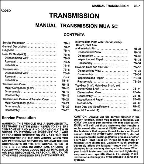 vehicle repair manual 2001 isuzu rodeo on board diagnostic system 2001 isuzu rodeo rodeo sport repair shop manual 4 volume set