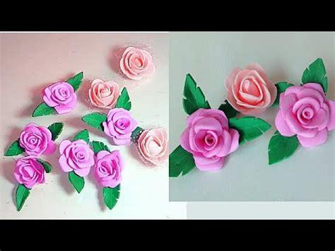 Rosas De Goma Eva Foami Como Hacer Flores De Goma Eva