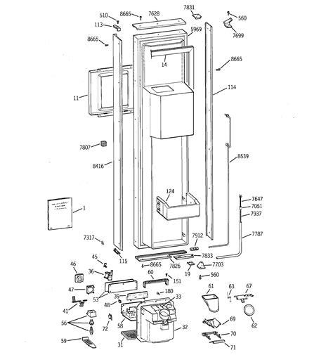 ge model zisbdxa side  side refrigerator genuine parts