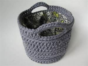 Corbeille Au Crochet : tutoriel crochet panier ~ Preciouscoupons.com Idées de Décoration