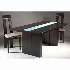 Table Verre Salle A Manger : table a manger wenge ~ Melissatoandfro.com Idées de Décoration