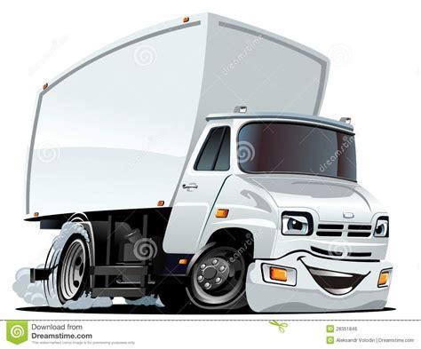 vector cartoon cargo truck stock vector illustration
