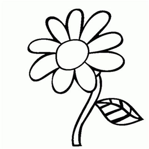 gambar bunga kartun hitam putih mewarna aneka