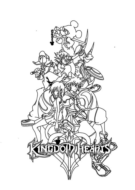 Kingdom Hearts coloring pages...ADULT COLORING BOOK PAGESMore Pins Like This At FOSTERGINGER