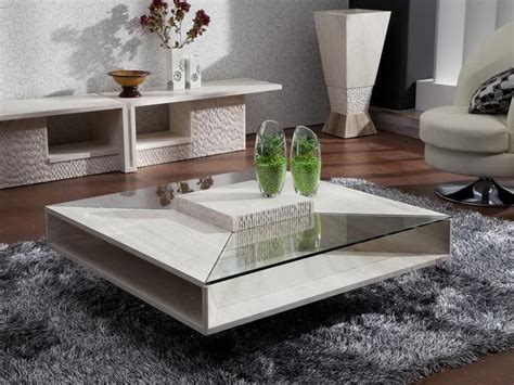 Glass Coffee Table Decor Square