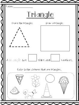 shapes worksheets    creations tpt