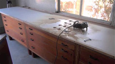 building custom melamine counter top  work bench work