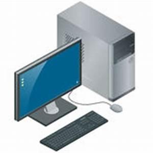 Pc Monitor Auf Rechnung : computer mit monitor tastatur und maus vektor abbildung ~ Haus.voiturepedia.club Haus und Dekorationen
