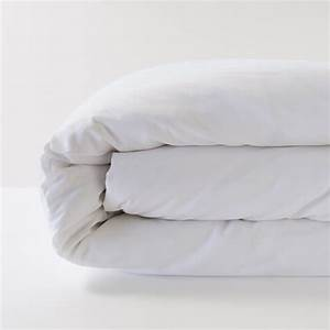 Housse De Couette En Lin : housse de couette en lin 100 pur fil coloris blanc ~ Melissatoandfro.com Idées de Décoration