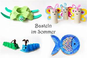 Kinder Basteln Sommer : basteln mit kindern im sommer 20 tolle ideen video mama kreativ ~ Buech-reservation.com Haus und Dekorationen