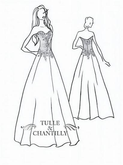 Tulle Skirt Neck Deep Pleated Custom Gown