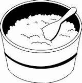 Rice Clipart Coloring Boiled Bowl Outline Oatmeal Sheets Transparent Clip Letters Result Bowls Clipground Webstockreview sketch template