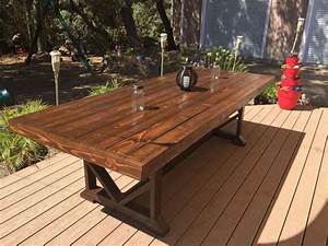 Large Outdoor Dining Tables — Table Design : Diy Outdoor