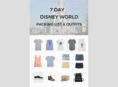 Disney World 7Day Packing Guide & Outfits Classy Yet Trendy