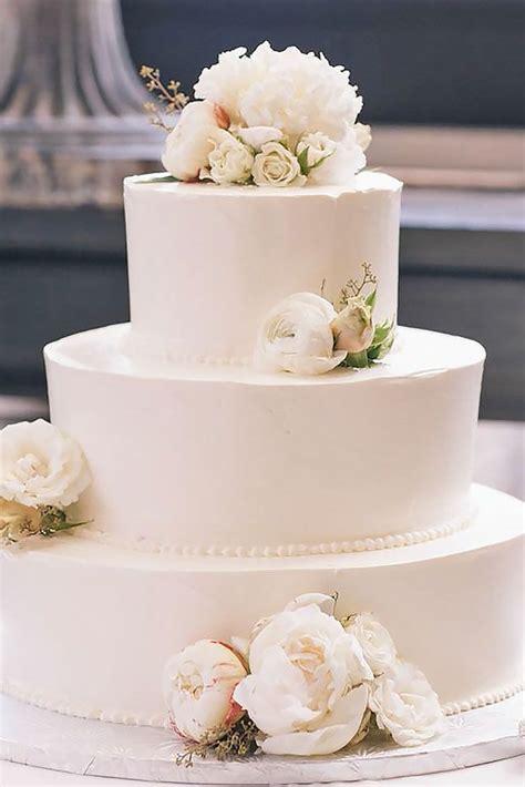33 Simple Romantic Wedding Cakes Wedding Cakes White