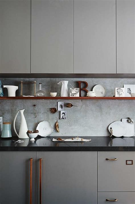 concrete kitchen backsplashes  pros  cons digsdigs