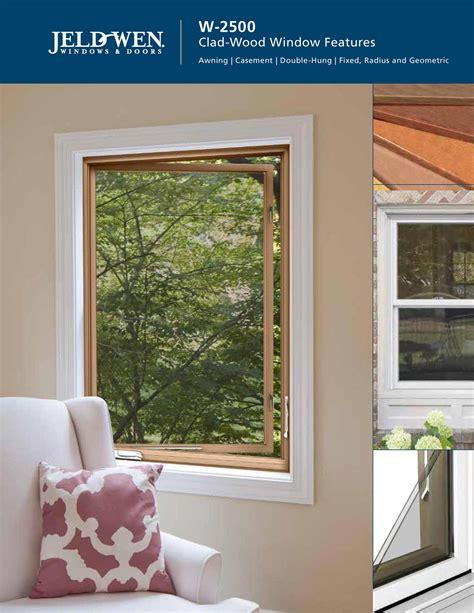 jeld wen w 2500 wood window features brochure