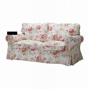 Ikea ektorp sofa bed slipcover cover byvik multi floral for Floral sofa bed