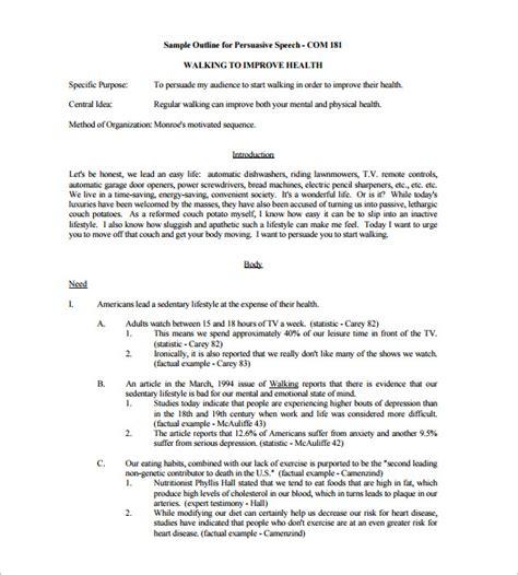 informative speech outline template persuasive speech outline template 9 free sle exle format free premium