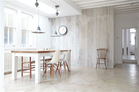 Modern Tile Floors by White Wood Wall Art Dining Room Scandinavian With Recycled