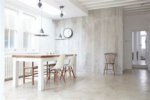 white wood wall art dining room scandinavian with recycled With parquet on wall