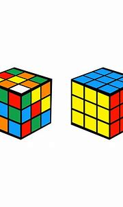 rubik cubes on white 674189 Vector Art at Vecteezy