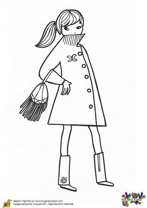 les jeux de cuisine pour fille gratuit coloriage une fashionista en manteau court