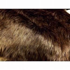 Fausse Fourrure Tissu : tissu fausse fourrure synth tique poils longs marron a0004 ~ Teatrodelosmanantiales.com Idées de Décoration