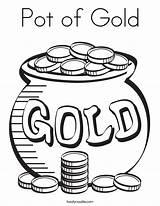 Pot Gold Coloring Noodle Built California Usa sketch template