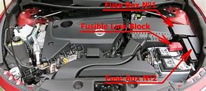Fuse Box Diagram Nissan Altima  L33  2013