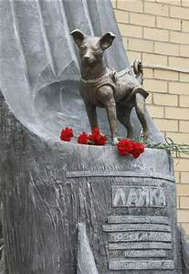 apr 12 laika the space dog s statue on cosmonautics day t1872