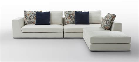 white fabric sectional odessa modern white fabric sectional sofa