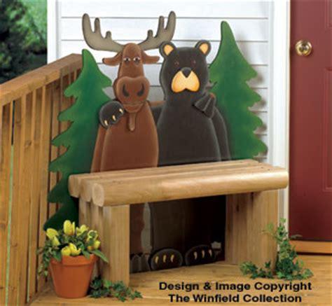 bear moose decor northern pals bench wood plans