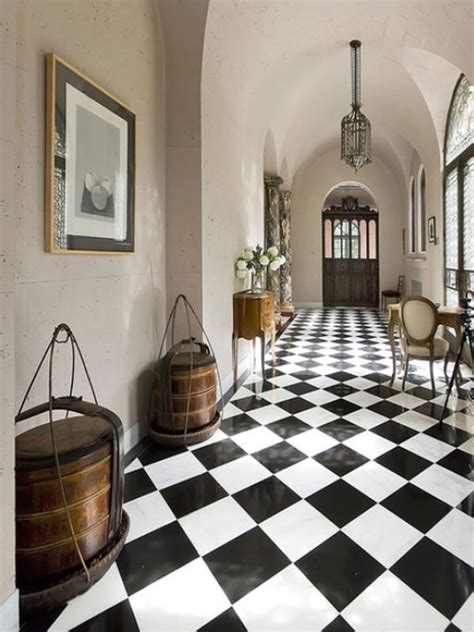 black and white checkered kitchen floor checkerboard flooring timeless for any room of the 9268