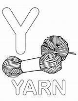 Coloring Letter Yarn Lowercase Alphabet Uppercase Printable Upper Comments sketch template