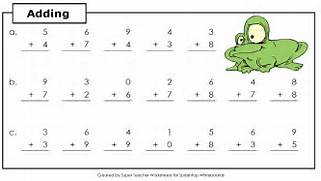 Geography Blog Math Addition Worksheets Simple Algebra Worksheet Free Printable Educational Worksheet Math Worksheets For Practice And Review Working With Fractions Easy Math Worksheets Addition Simple Addition Practice Free Worksheet