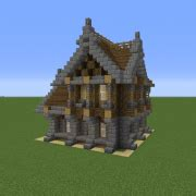 small medieval house  grabcraft  number  source  minecraft buildings blueprints