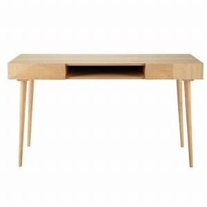Bureau 140 Cm : bureau meuble bureau en bois ou bureau secr taire ~ Teatrodelosmanantiales.com Idées de Décoration