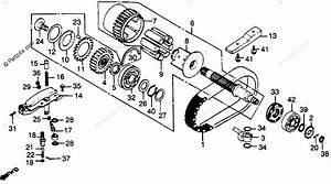 Honda Motorcycle 1980 Oem Parts Diagram For Primary Shaft